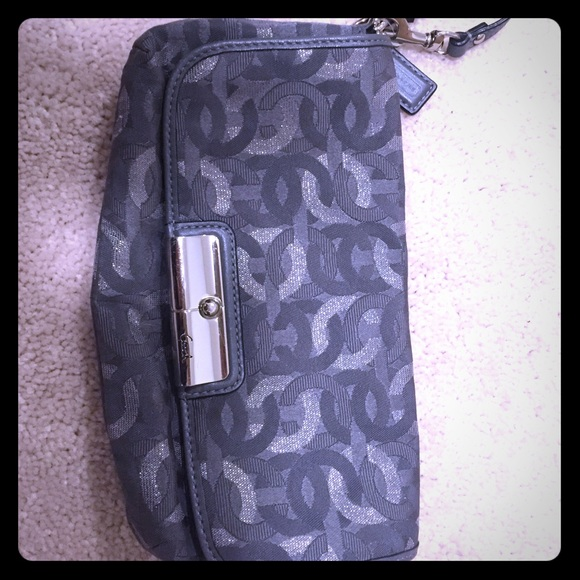 Coach Handbags - Coach clutch grey and silver